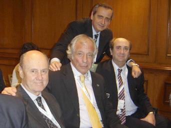 Dres. Ernesto Briggs, Roberto Villavicencio, Sergio Moguillansky y Hugo Guerra