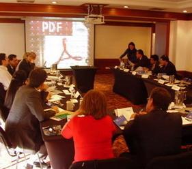 Fig. 2: Una vista de una de las reuniones de trabajo