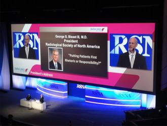 Fig. 1: Sesión inaugural RSNA 2012