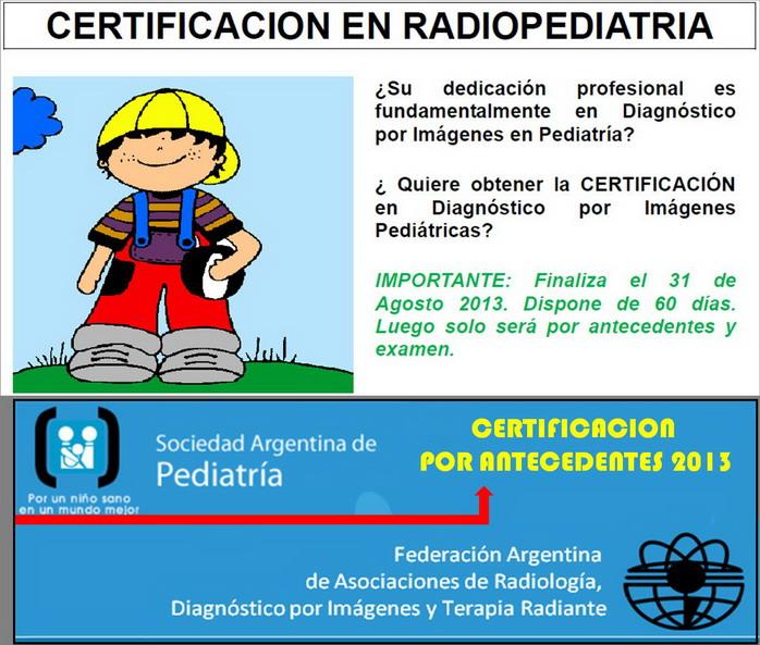 Certificación Radiopediatría