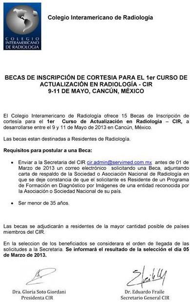 Becas Cancún 2013