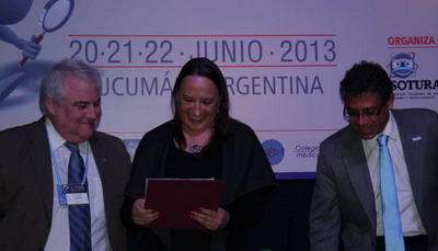 Dra. Gloria Soto Giordani, presidente del Colegio Interamericano de Radiología