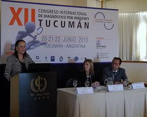 Prof. Dra. Gloria Soto Giordani (Chile). Presidente de la sesión fue la Dra. Ana Valdivia de Kinen  y el secretario fue el Dr. Pedro Grassino