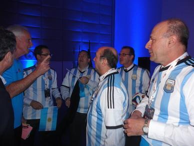 Equipo Argentino preprándose para el Match desafío diagnóstico