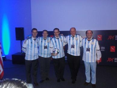 Foto del Equipo argentino antes del Match desafío
