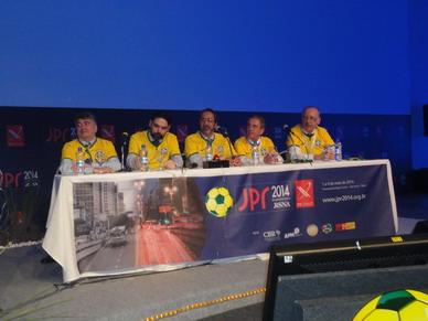 Equipo brasilero antes del Match desafío