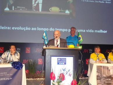 Palabras de agradecimiento del Doctor Carlos Quiroga Mayor durante su Homenaje en el 44 JPR 2014