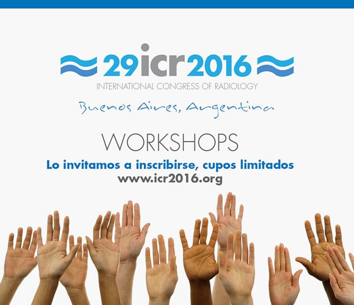 Workshops durante ICR2016 - ABIERTA LA INSCRIPCION!!