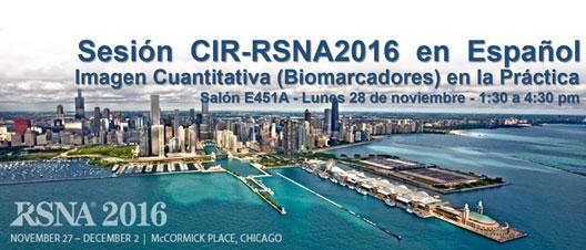 Sesión CIR RSNA 2016