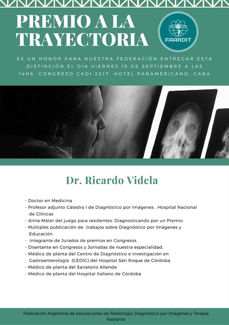 Premio a la trayectoria en Radiología
