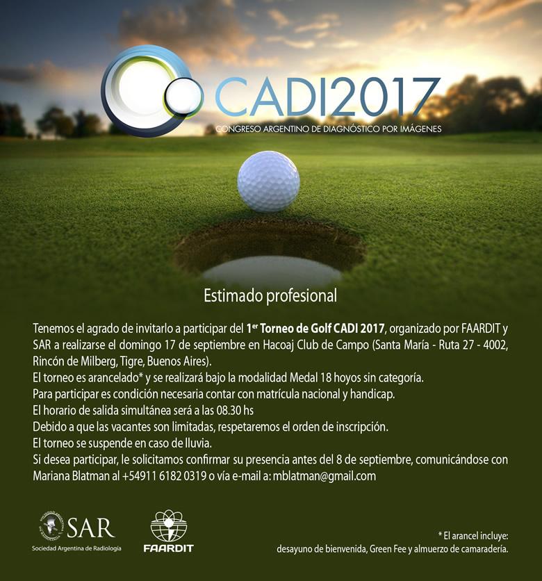 1º Torneo de Golf CADI 2017