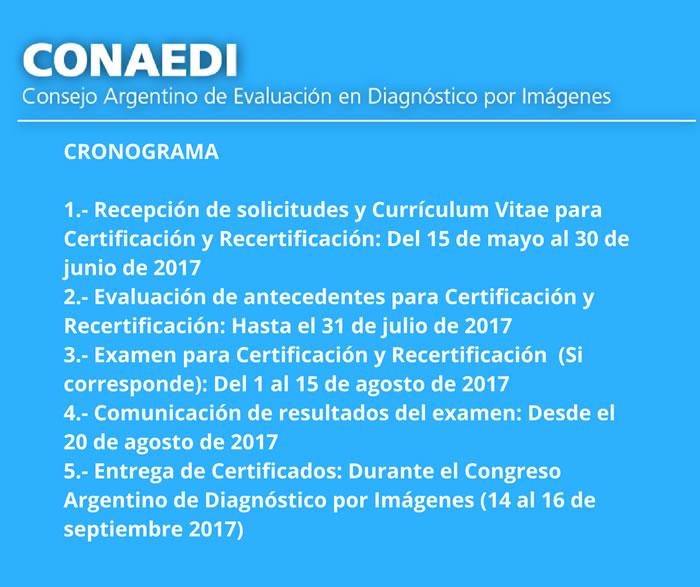CONAEDI Cronograma 2017