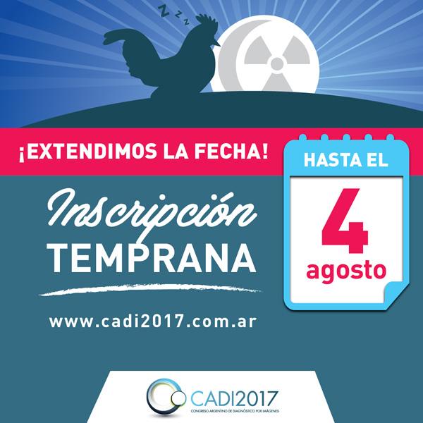 CADI 2017. Extendimos la fecha para inscripción temprana