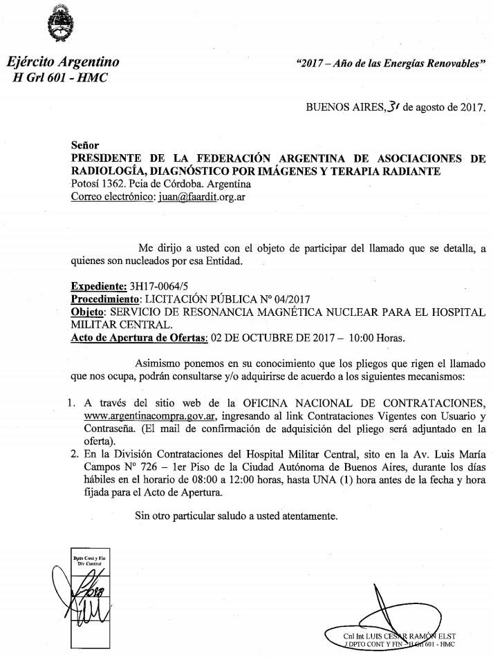 Licigtación pública HMC