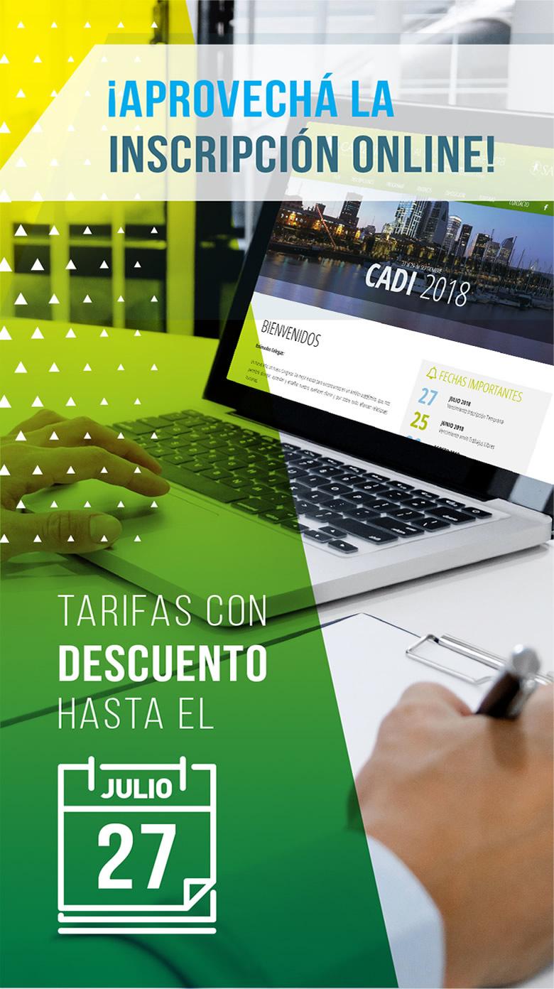 Inscripción on-line CADI 2018