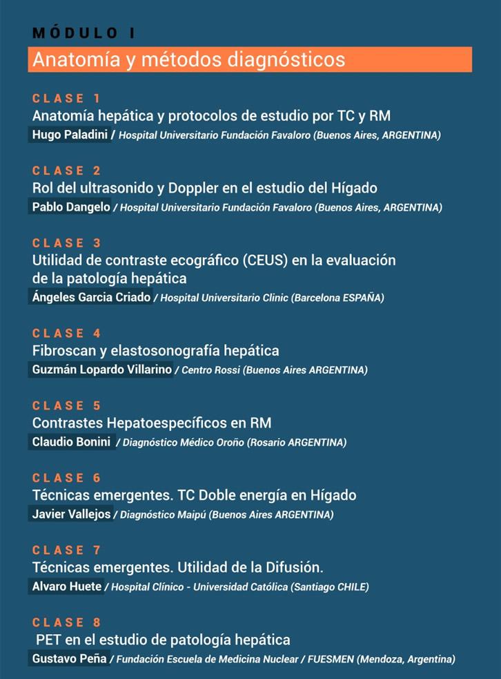 Curso Actualización en imágenes de patología hepatobiliar