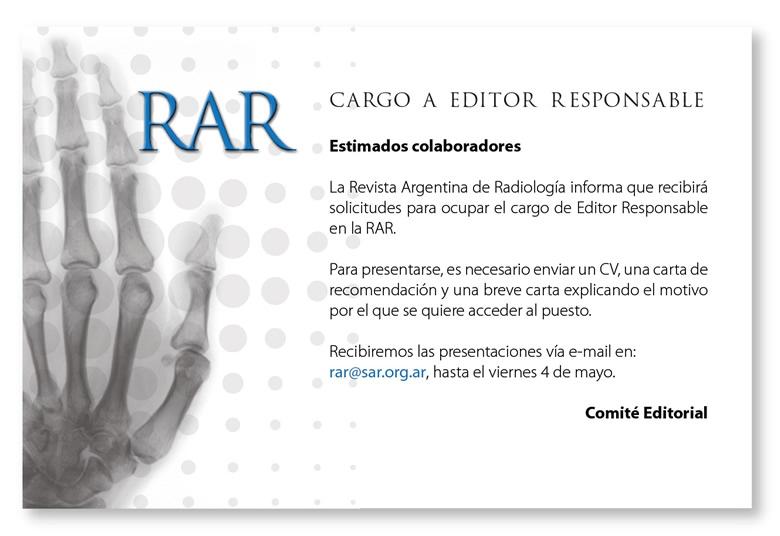 Convocatoria Revista RAR
